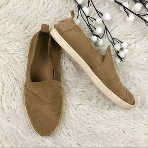 TOMS Deconstructed Alpargata Toffee Suede Flat